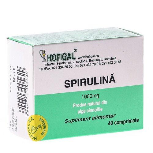 HOFIGAL Spirulina cu extract de catina, 40 comprimate